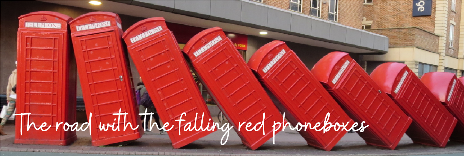 Falling Red Telephone Boxes
